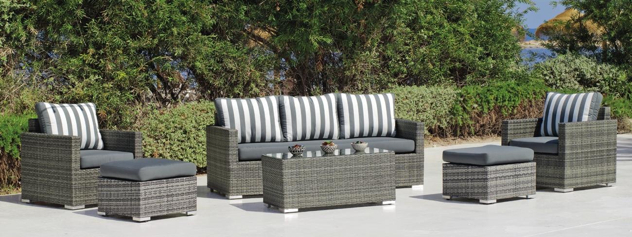 Set muebles de lujo para exteriores DOHA 8 - Muebles de Rattan de lujo con resistencia garantizada DOHA 8