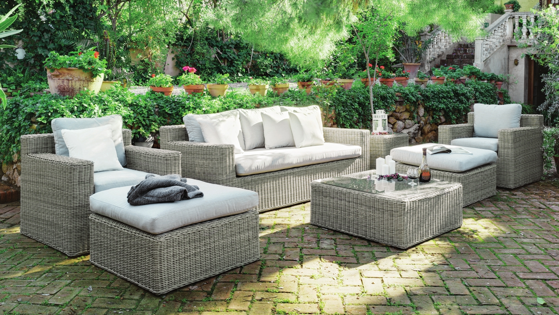 Set de lujo sofás y mesa exteriores CHANTY 8 - Set de lujo sofás y mesa exteriores CHANTY 8