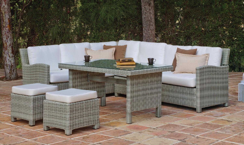 Set muebles de lujo para exteriores Princess - Muebles de Rattan de lujo con resistencia garantizada Princess
