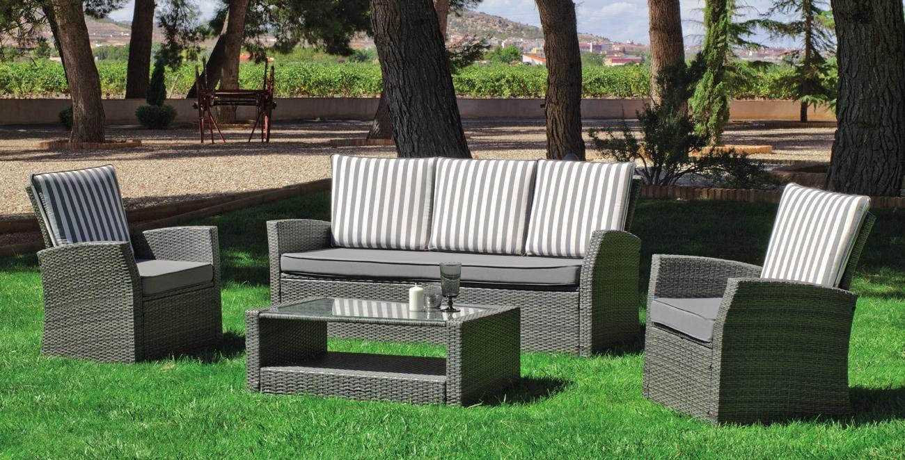 Set muebles de lujo para exteriores VERONA 8 - Muebles de Rattan de lujo con resistencia garantizada Verona