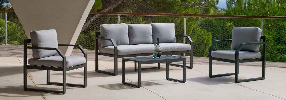 Set Sofa Génova - Set Sofa Génova, se fabrica en una amplia gama de colores: Blanco, Antracita o Plata y las tapicerías son también seleccionables en calidad de tejido y color o estampado.