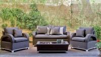 Set muebles de lujo para exteriores 15 - Gran rinconera modular para terraza o jardín