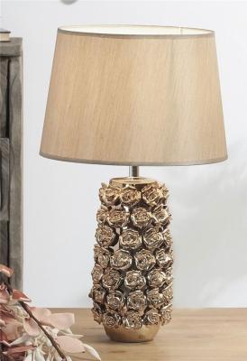 LAMPARA CERAM. ROSAS CHAMPAN 50 CMS.