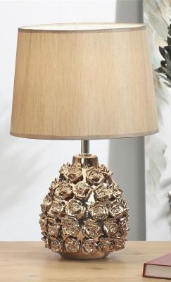 LAMPARA CERAM. ROSAS CHAMPAN 43 CMS.