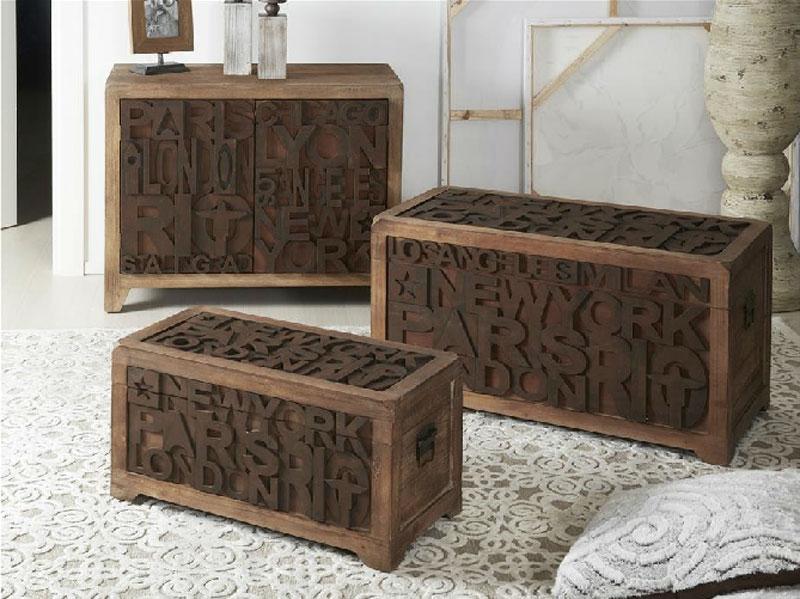 Set de Baúles o Aparador de madera Dustin - Set de Baúles o Aparador de madera Dustin