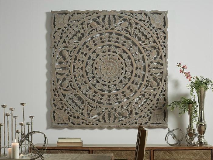 Panel de madera tallada Gris - Panel de madera tallada Gris