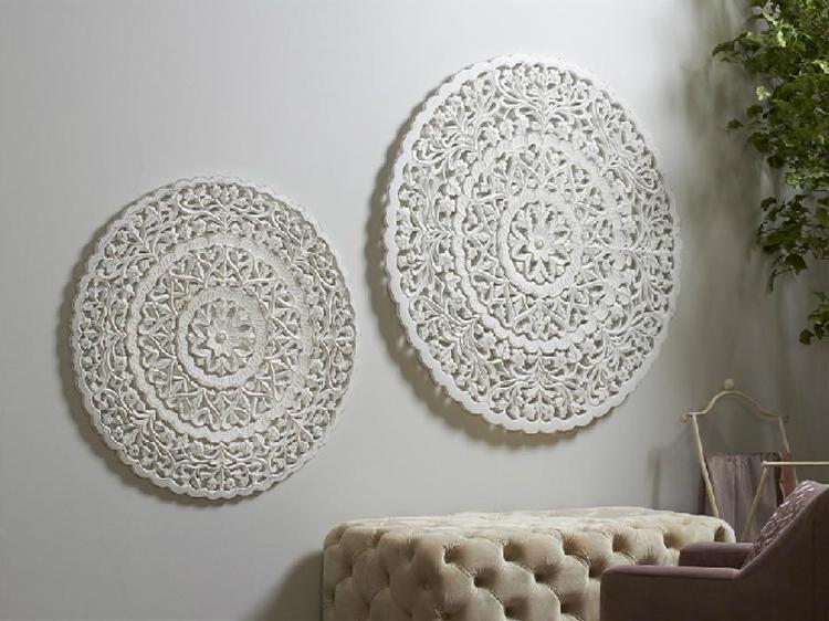 Panel de madera tallado blanco - Panel de madera tallado blanco