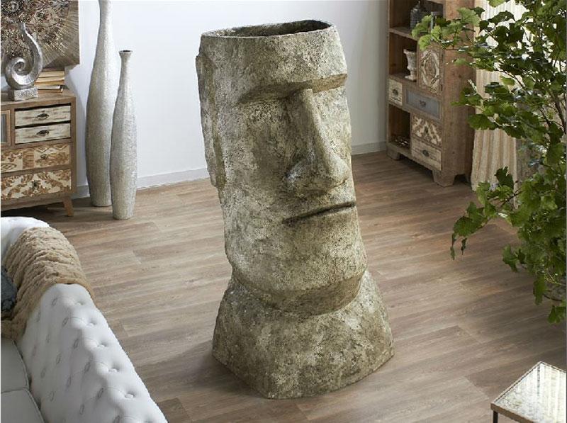 Vasija Terracota Moai - Vasija Terracota Moai