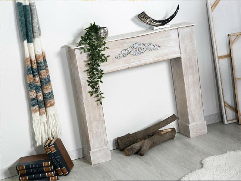 Cubre chimenea madera decapada - Cubre chimenea madera decapada