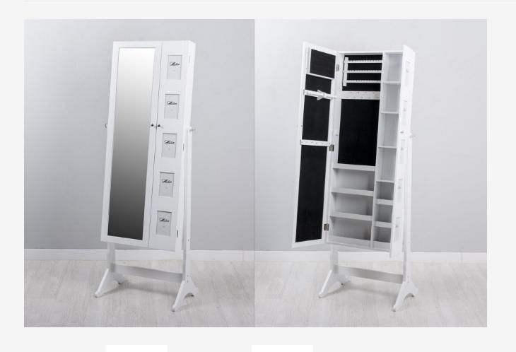 Mueble joyero doble con espejo - Mueble joyero con espejo y marco fotos