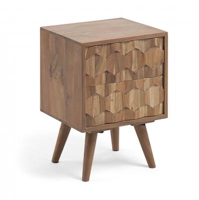 Mesita de noche Image - Mesita de noche Image en madera de acacia