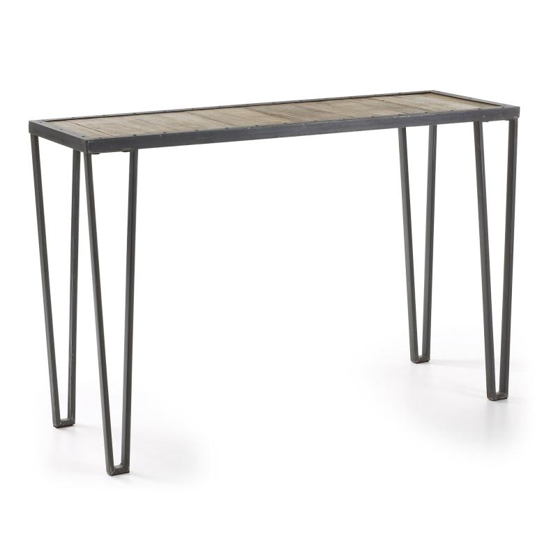 Consola ROTCIP - ROTCIP Consola Estr.hierro gris Sobre madera Natural
