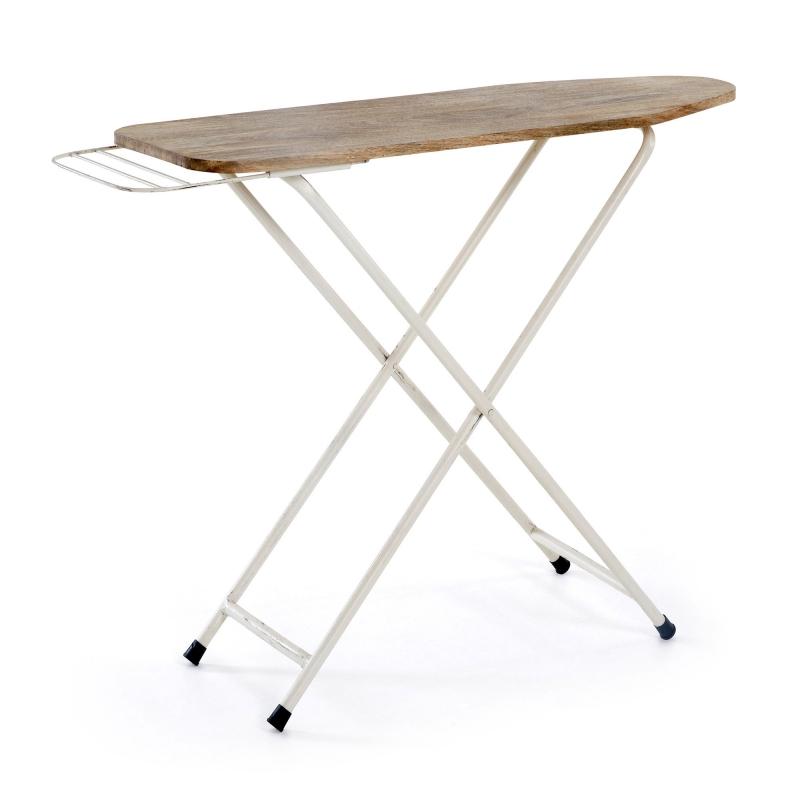 Consola QUEST - QUEST Consola metal blanco Sobre madera natural