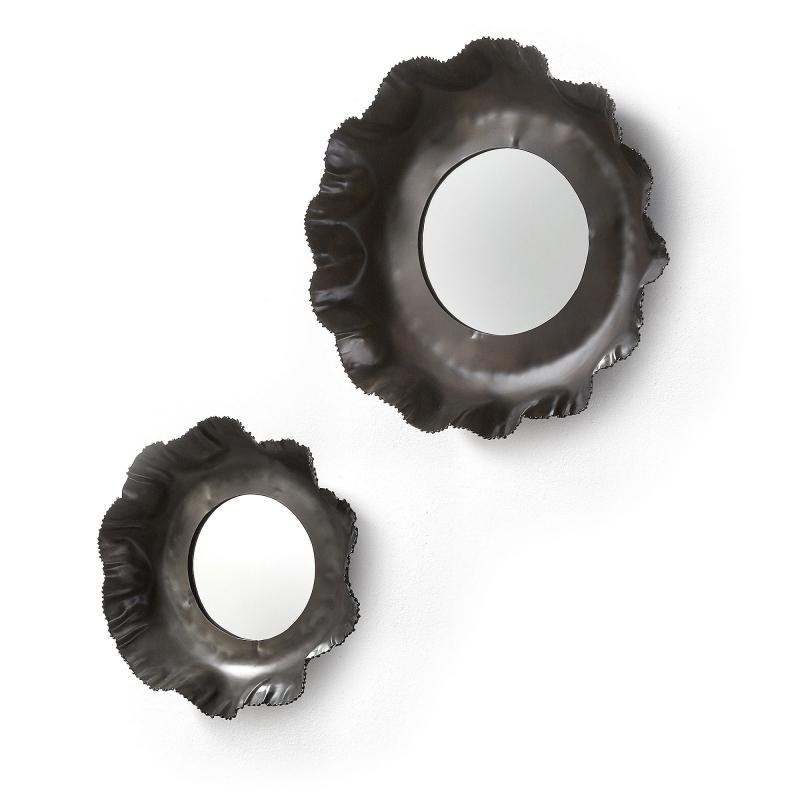 Set espejos Karlo - KARLO Set 2 espejos metal zinc