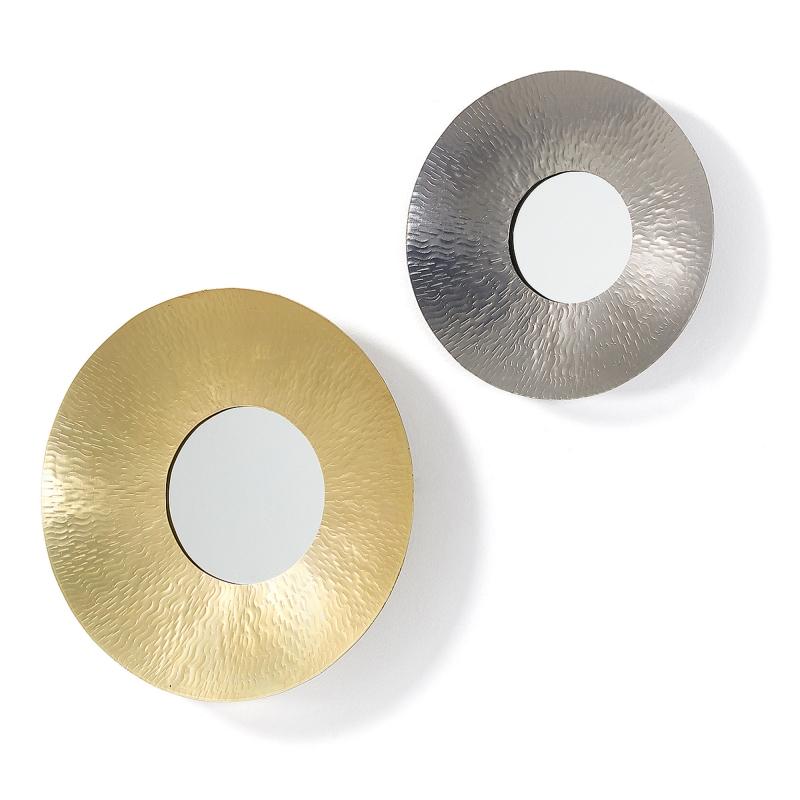 Set 2 espejos TRAPP - TRAPP Set 2 espejos metal latón y níquel