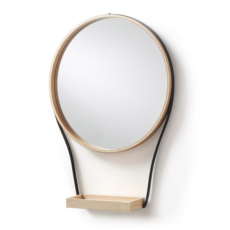 Espejo BARLOW - BARLOW Espejo metal negro contrachapado madera