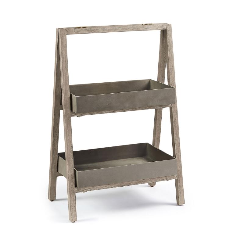 Estanteria Stahl - STAHL Estantería 67 acacia blanco cepillado cemento
