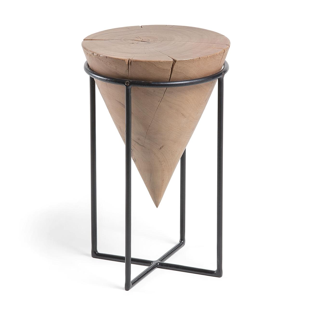 JAYD Mesa auxiliar  - JAYD Mesa auxiliar metal madera acacia