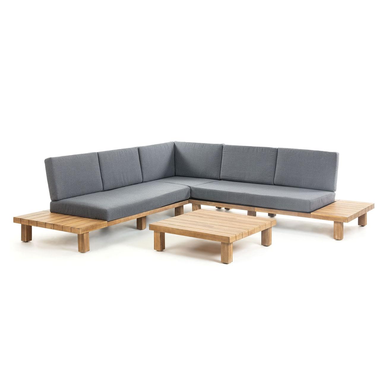 Sofá rinconero  BURLINGTON madera acacia  - Sofá rinconero  BURLINGTON madera acacia