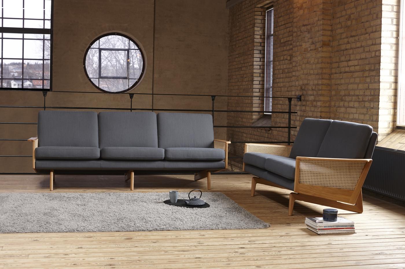 Sofa EgsmarkCANEWEBBING - Sofá de elegante diseño. Características modernas en formas clásicas y encantadoras