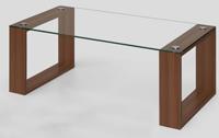 Mesa baja de cristal -