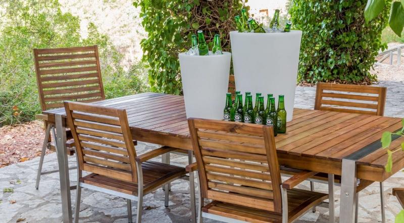 Mesas de teca,sillas de teca,mesa extensible de teca,mesa redonda de ...