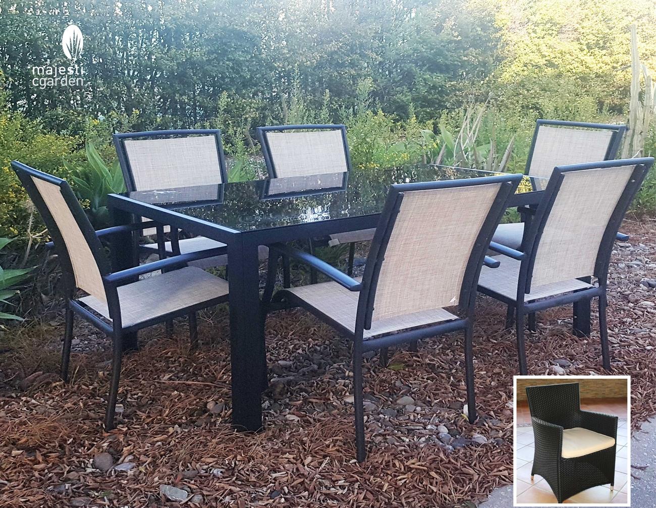 Mesa para exterior o sillones AVILA - Juego de mesa y sillas para exterior modelo ÁVILA de Majestic Garden