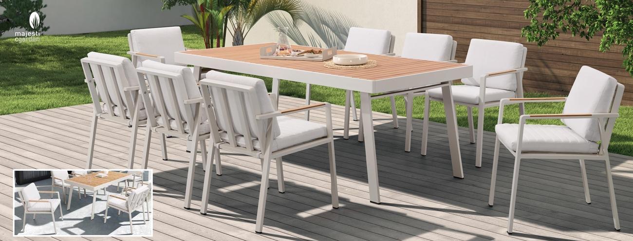 COMEDOR PARA EXTERIOR BOLIVIA - Juego de mesa y sillas para exterior modelo BOLIVIA de Majestic Garden