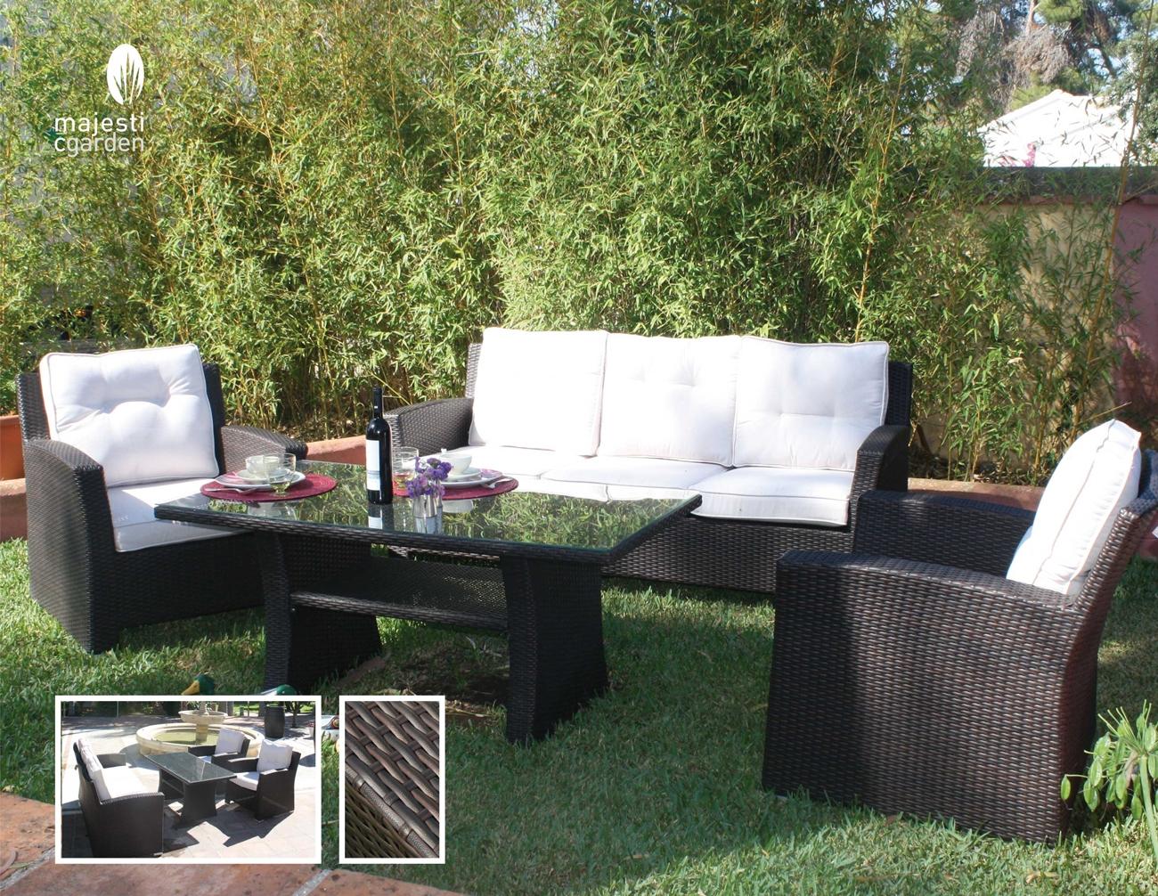 Set de sofá para exterior Prado - Set de sofá para exterior Prado, elegante que llenara de estilo tu jardín.