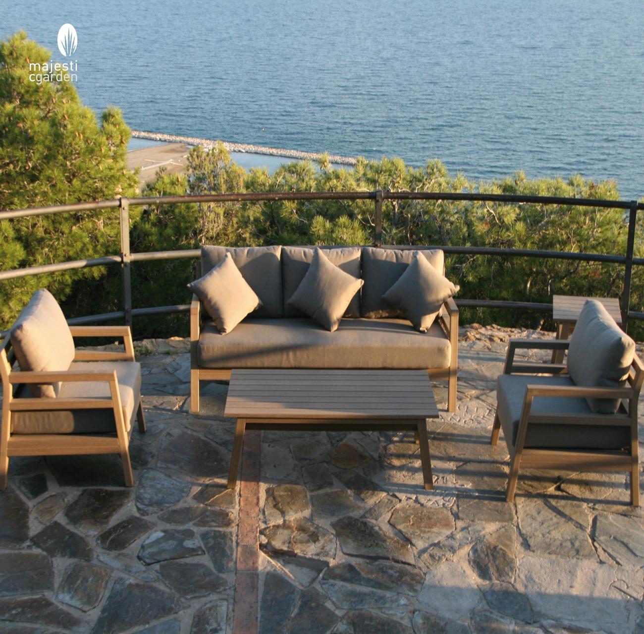 SET SOFA DE EXTERIOR BARBADOS - Set para terraza o jardín modelo BARBADOS de Majestic Garden