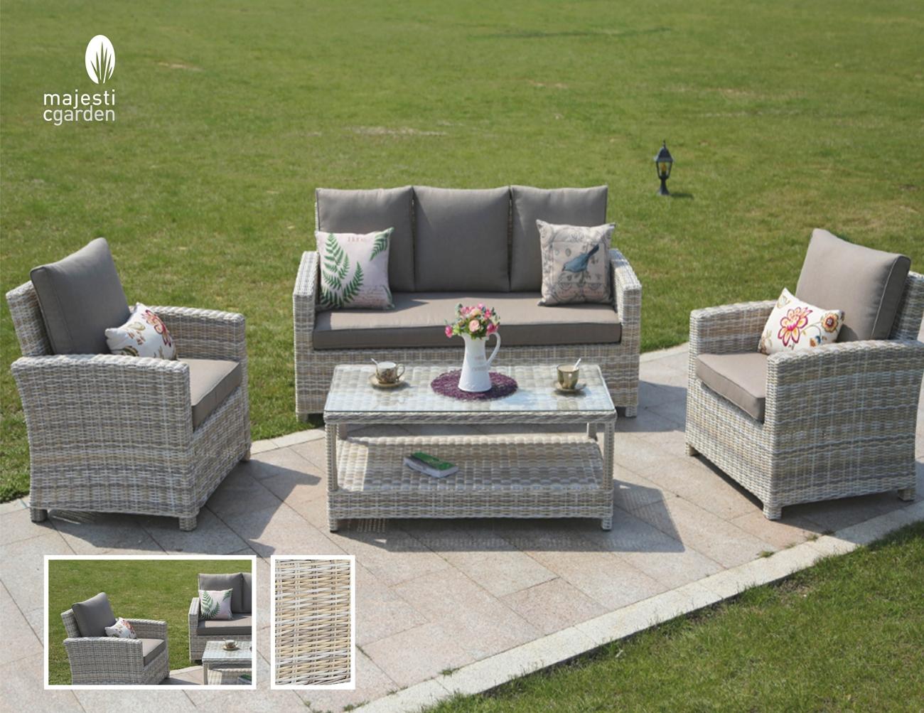 SET SOFA DE EXTERIOR NERJA - Set para terraza o jardín modelo NERJA SOFÁ de Majestic Garden