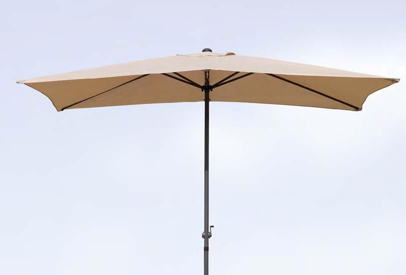 Parasol en acero y poliester 1123