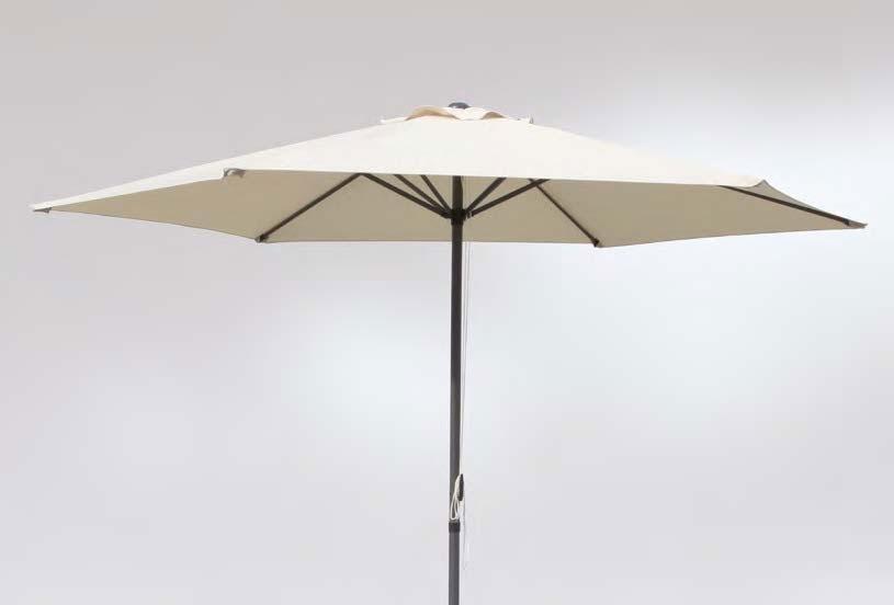 Parasol en acero y poliester 1125