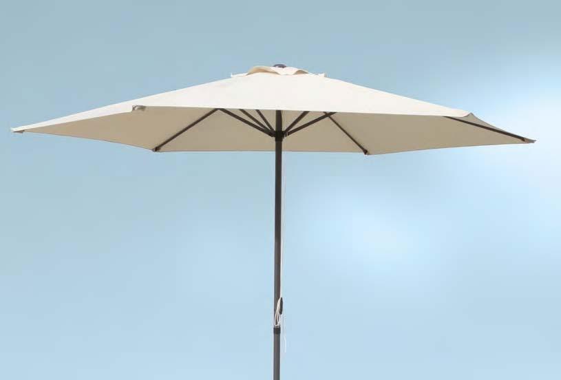 Parasol en acero y poliester 1129 - Parasol en acero y poliester 1129