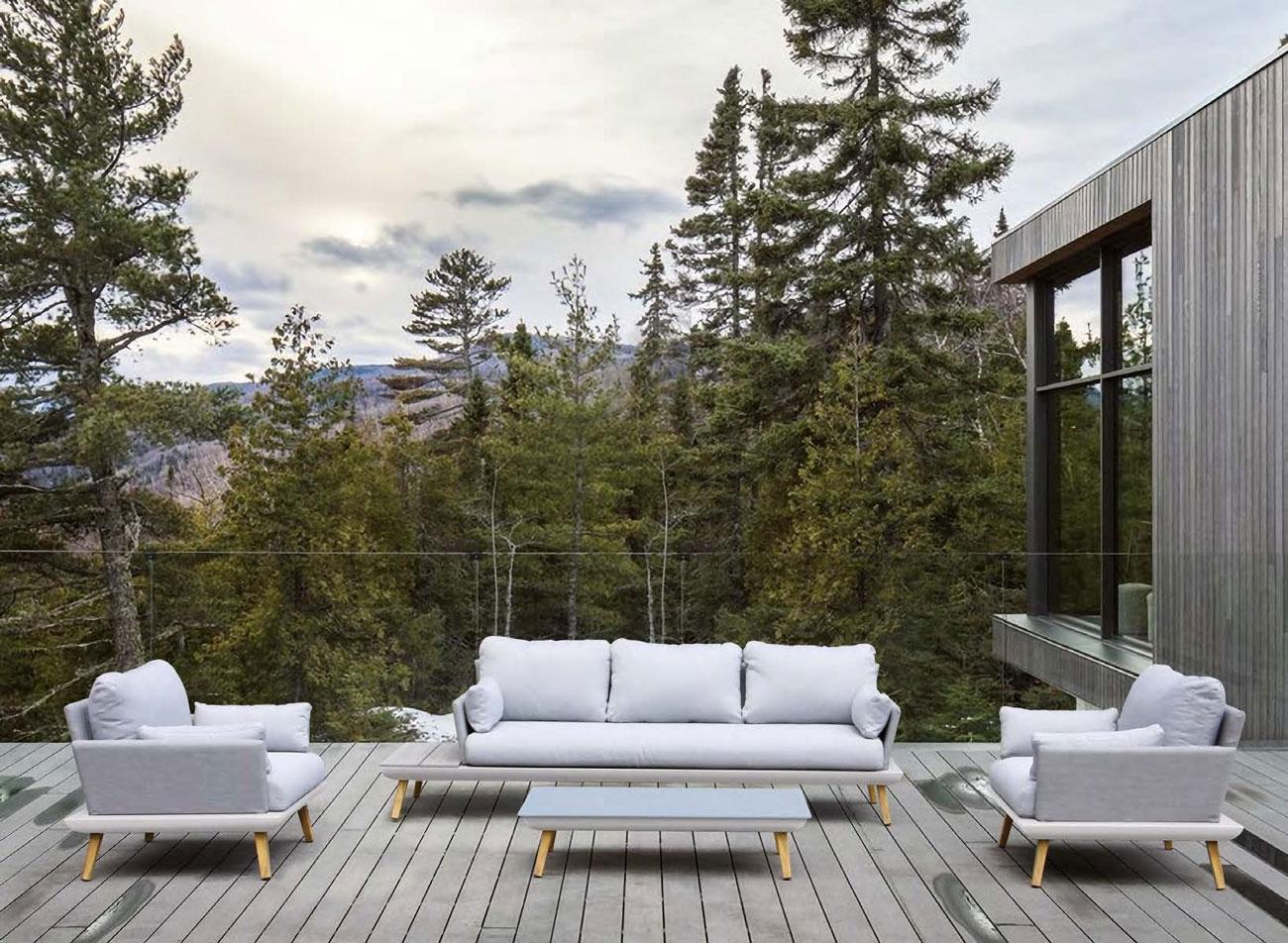 SET SOFA DE EXTERIOR BOREAL - Set para terraza o jardín modelo BOREAL de Majestic Garden