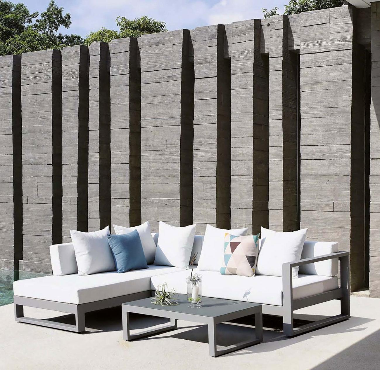 SET SOFA DE EXTERIOR CASCAIS - Set para terraza o jardín modelo CASCAIS de Majestic Garden
