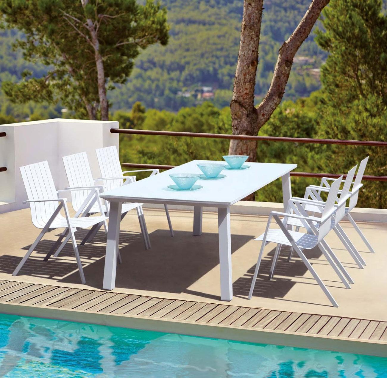 Mesa comedor para exterior o sillones SOHO - Juego de mesa y sillas para exterior modelo SOHO de Majestic Garden