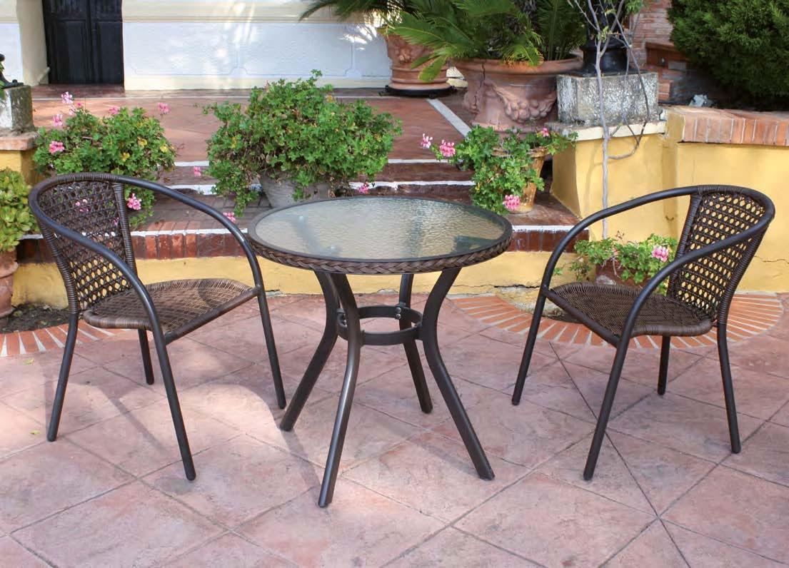 Mesa comedor para exterior EVORA-30 - Juego de mesa para exterior modelo EVORA-30 de Majestic Garden