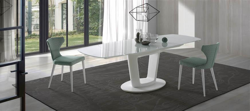Mesa de comedor Antonella - Mesa de comedor extensible Antonella