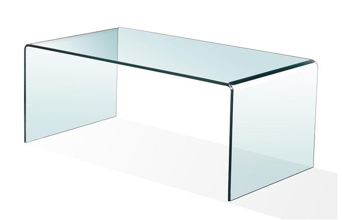 Mesa centro cristal Cheval 100 - Mesa de centro cristal 100 cm