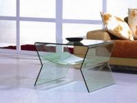 Mesa de centro de cristal moderna - Mesa de centro de cristal moderna de 1 pieza