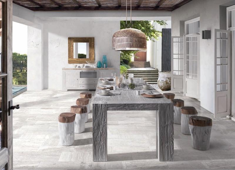 Mesa comedor patas madera macizas - Mesa de comedor en madera de robre macizo