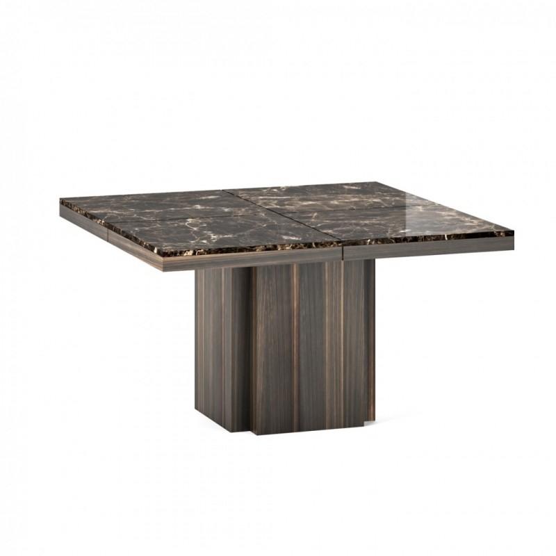 Mesa cuadrada de marmol - Mesa de comedor cuadrada con tope de marmol.