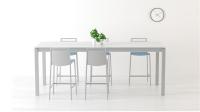 Mesa de cocina  configurable extensible o fija - Mesa de cocina con ruedas.