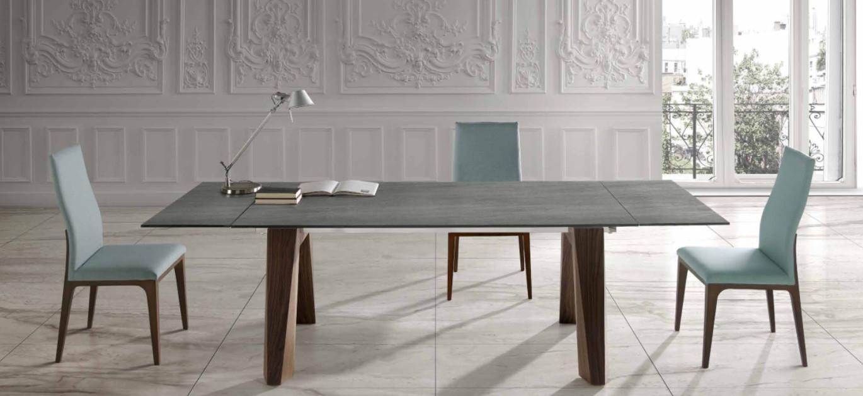 Mesa de comedor extensible OT tapa cerámica