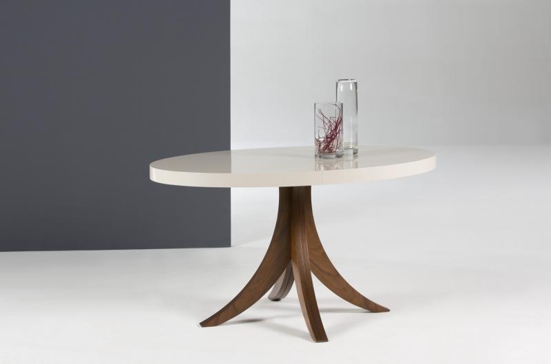 Mesa redonda extensible de diseño - Mesa redonda extensible de diseño moderno