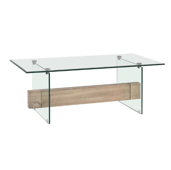 Mesa de centro de vidrio rectangular - Mesa de centro de vidrio rectangular
