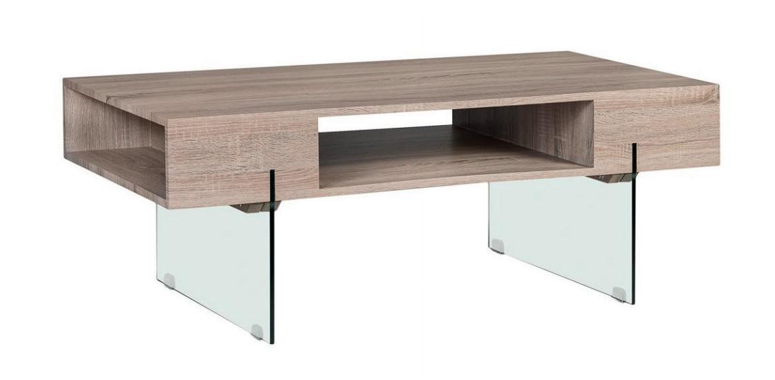 Mesa de centro de madera rectangular - Mesa de centro de madera rectangular