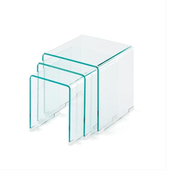 Set de mesas de cristal  - Set de mesas de cristal