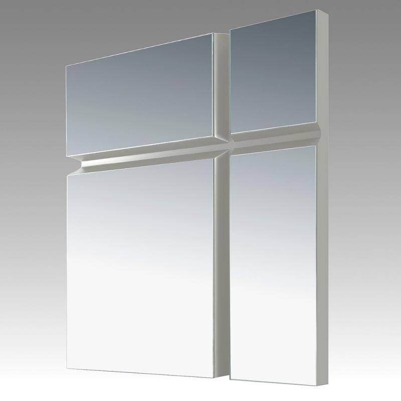 Espejo Mandy - Espejo Mandy, Espejo cuadradomoderno con bordes lacados